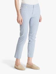 Ralph Lauren Lycette Skinny Trousers Blue White