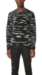 Ovadia And Sons Roll Edge Sweater Black White Static