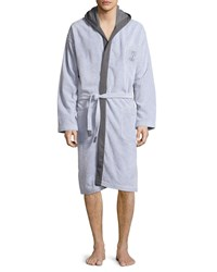 Brunello Cucinelli Terry Cloth Cotton Spa Robe Gray Women's