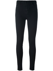J Brand Cropped Skinny Trousers Black