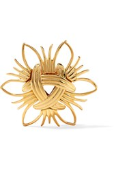 Kenneth Jay Lane Gold Tone Brooch One Size