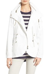 French Connection Women's Tulip Hem Anorak Summer White