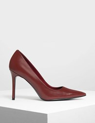 Charles And Keith Classic Pointed Pumps Red