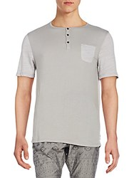 Howe Henley Pocket Tee November Silver