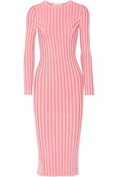 Altuzarra Gramm Ribbed Stretch Knit Midi Dress Bubblegum