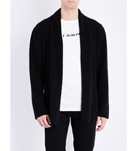 The Elder Statesman Hugh Knitted Cashmere Cardigan Black