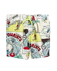 Stella Mccartney Taylor Cartoon Print Swim Trunks Multi Pattern