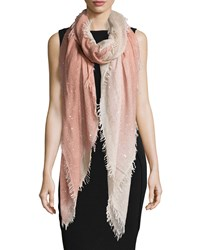 Faliero Sarti Monique Ombre Metallic Square Scarf Peach Rose Ombre