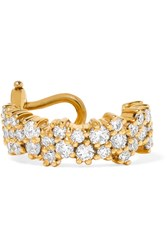 Ana Khouri Mirian 18 Karat Gold Diamond Ear Cuff One Size