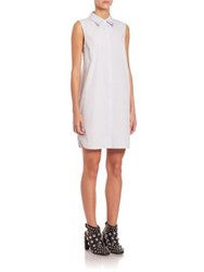 Alexander Wang Sleeveless Shirtdress Pale Blue