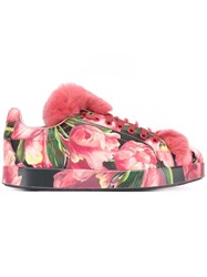 Dolce And Gabbana Tulip Print Sneakers Multicolour