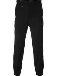 Guild Prime Ribbed Hem Cropped Trousers Black
