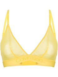 Calvin Klein Sheer Contour Bra Yellow
