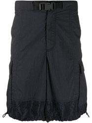 Valentino Buckle Cargo Shorts Blue