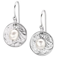 Dower And Hall Sterling Silver Pearlicious Round Drop Earrings Silver White