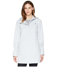Ilse Jacobsen Lightweight Raincoat White Blue