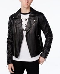 Wht Space Men's Motorcycle Jacket Only At Macy's Black