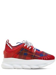 Versace Lvr Edition Chain Reaction Sneakers Red