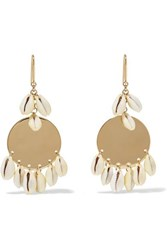 Isabel Marant Gold Tone And Shell Earrings One Size