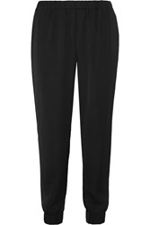 Tomas Maier Satin Tapered Pants Black