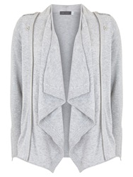 Mint Velvet Zip Detail Cardigan Grey