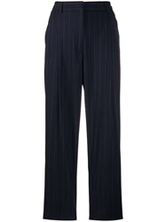 Alberto Biani Tailored Pinstriped Trousers Blue