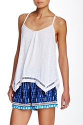 Green Dragon Pleated Scoop Neck Tank White