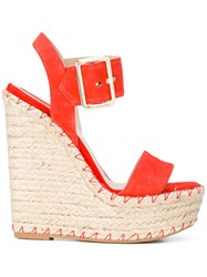 Elie Saab Wedge Sandals Yellow Orange