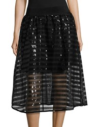 Necessary Objects Sequined A Line Skirt Silver