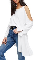 Free People Women's Clear Skies Cold Shoulder Tunic White
