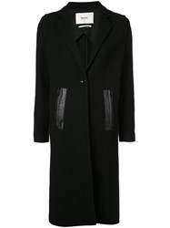 Bally Single Breasted Fitted Coat Black