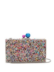 Sophia Webster Clara Crystal Embellished Clutch Multi