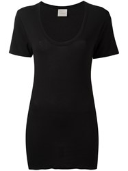 Laneus Fitted T Shirt Black