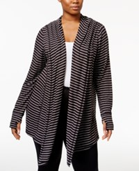 Ideology Plus Size Hooded Wrap Only At Macy's Noir