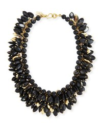 Ashley Pittman Kalamu Layered Dark Horn Necklace Brown