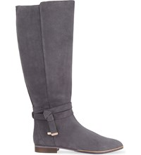 Ted Baker Enjaku Suede Knee High Boots Grey