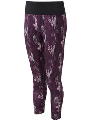Ronhill Momentum Cropped Running Tights Aubergine Cloud