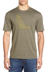 Men's Merrell 'Polar Hound' Graphic Crewneck T Shirt Deep Olive Heather