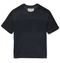 Wooyoungmi Colour Block Cotton T Shirt Blue