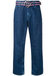 Love Moschino Cropped Straight Jeans Blue