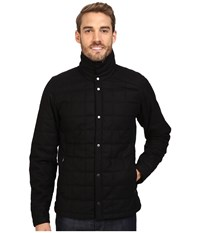 Nau Wool Down Shirt Caviar Men's Long Sleeve Button Up Black