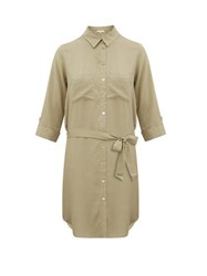 Heidi Klein Venice Belted Shirtdress Khaki