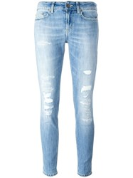 Dondup Distressed Skinny Jeans Blue