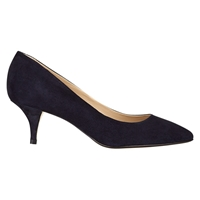 Hobbs Arianne Suede Court Shoes Navy