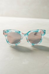 Anthropologie Marble Mirrored Sunglasses Blue