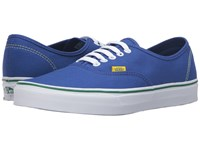Vans Authentic 2016 Games Summer 2016 Blue Gold Green Skate Shoes