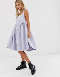 559132da50e Sister Jane Mini Cami Dress With Tie Shoulders And Volume Skirt Blue