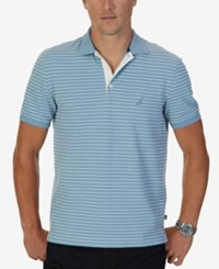 Nautica Men's Reginald Striped Polo Anchor Blue