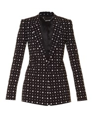 Givenchy Micro Geometric Jacquard Tailored Jacket Black Multi