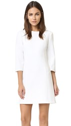 Alice Olivia Gem 3 4 Sleeve Shift Dress Off White
